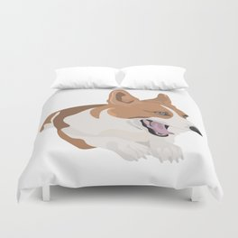 Bobo the Corgi Duvet Cover