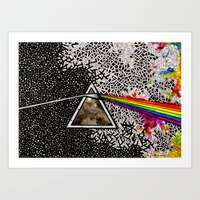 dark side of the moon Art Prints featuring Dark Side of the Moon by Luciana Pupo