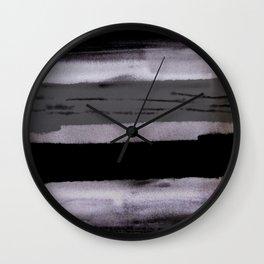 Dark shadow abstract painting Wall Clock