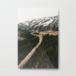 Long and winding road Metal Print
