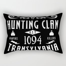 Geeky Gamer Chic Castlevania Inspired Belmont Family Hunting Clan Rectangular Pillow