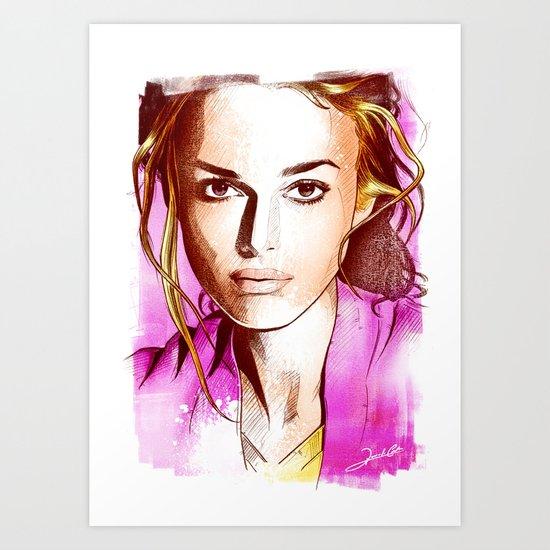 Keira Knightley - Poptrait Art Print