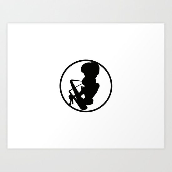 SOULTOOL LOGO BLACK Art Print