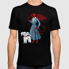 Devil With A Blue Dress On LARGE Mens Fitted Tee Black