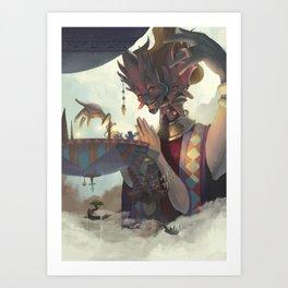 The Dreamteller of Mirages Art Print