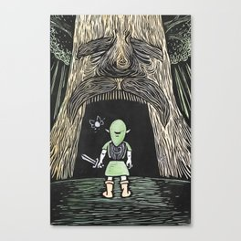 Enter the Deku Tree Canvas Print