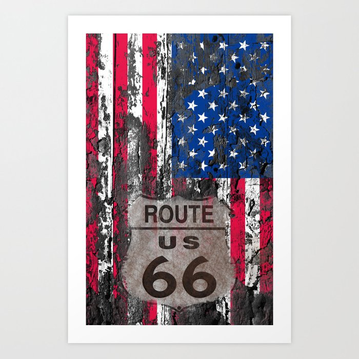 US Flag Kunstdrucke