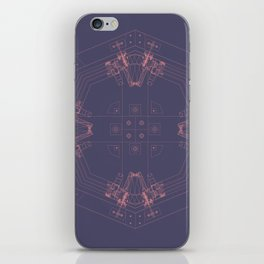 Detailed architectural node_2 iPhone Skin