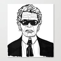 karl lagerfeld Canvas Prints featuring Uncle Karl Lagerfeld by Thompson ET Julienne