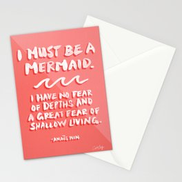 I Must Be A Mermaid – Coral Palette Stationery Cards
