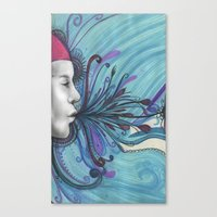mouth Canvas Prints featuring Mouth by Mighty Truth