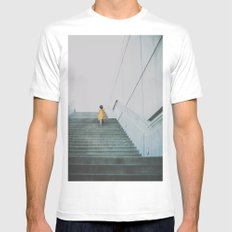 A girl in a yellow dress White Mens Fitted Tee MEDIUM