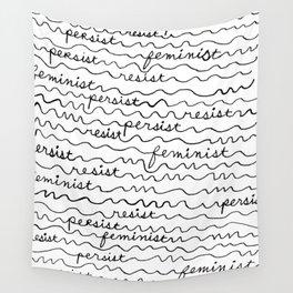 Resist Persist Feminist Wall Tapestry