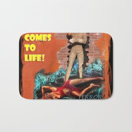Woman in the red dress meets The Mummy Bath Mat