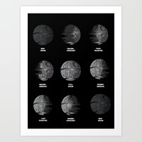 moon phase Art Prints featuring The Death Star Moon phase. by Ismael Sandiego