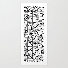 8 bit Art Print