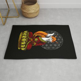 Fox Zen Yoga Meditation Rug