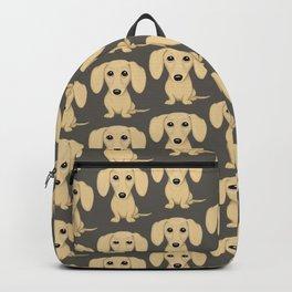 Shorthaired Cream Dachshund Backpack