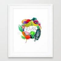 vegan Framed Art Prints featuring Vegan  by BriannaCamp