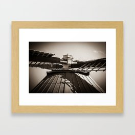 Dutch Windmill Old skool look (Bourtange) Framed Art Print