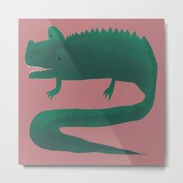 crocodile Metal Print