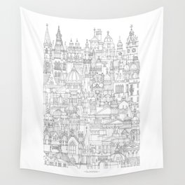 Glasgow, a cone in a haystack Wall Tapestry