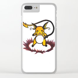 Raichu on the battlefield Clear iPhone Case