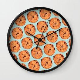 Cookies Pattern - Blue Wall Clock