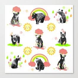 Happy Bears Canvas Print