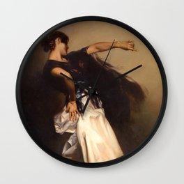 A Spanish Dancer by John Singer Sargent - Vintage Fine Art Oil Painting Wall Clock