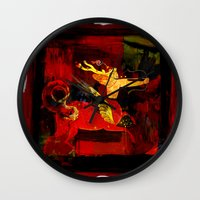 boxing Wall Clocks featuring Boxing Sagittarius by Genco Demirer