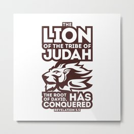 The lion of the tribe Metal Print