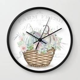 Pumpkin Patch Basket Wall Clock