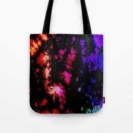 Dark Goth Galactic Rainbow Splatter Tote Bag