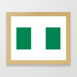 Nigerian Flag - Authentic High Quality HD Image Framed Art Print