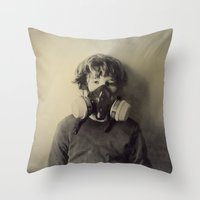 sam smith Throw Pillows featuring Sam by Rachel Wisniewski