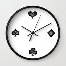 Card Hearts Wall Clock