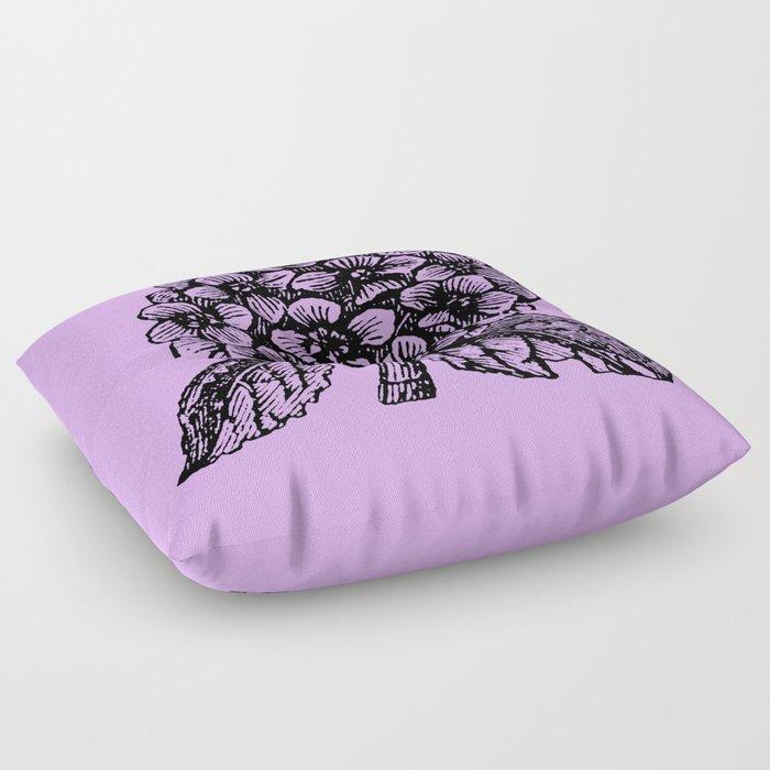 Lavender Hydrangea Floor Pillow