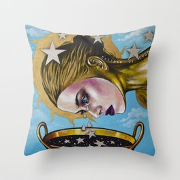 Eclipse 1 (Myth about the sun & stars) Throw Pillow