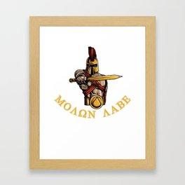 Molon Labe - Spartan Warrior 2nd Amendment Pro Gun Framed Art Print