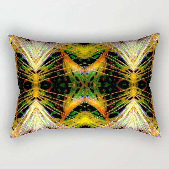 Yellow Bright Rays,Fractal Art Rectangular Pillow