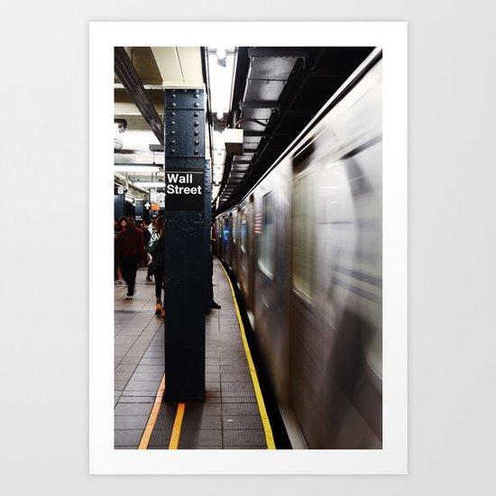 Wallstreet Subway Art Print