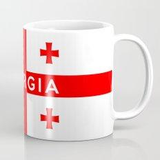 Georgia country flag name text Mug