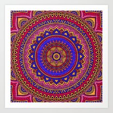 Hippie mandala 42 Art Print