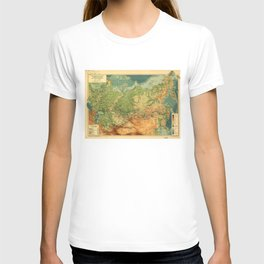 Map of Russia (1912) T-shirt