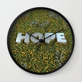 HOPE FLOWERS Wall Clock