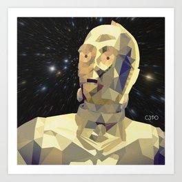 C3po Poly Art Art Print