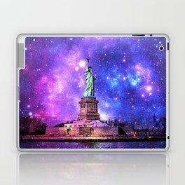 space Statue of Liberty Laptop & iPad Skin
