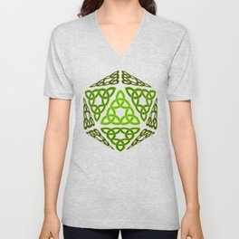 D20 Celtic Knots Unisex V-Neck