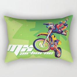 MX Airborne Motocross Stunt Fly Rectangular Pillow